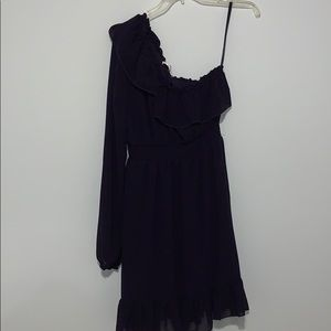 One Shoulder Dress with Ruffles